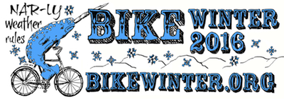 2016 Bike Winter Narwahl sticker